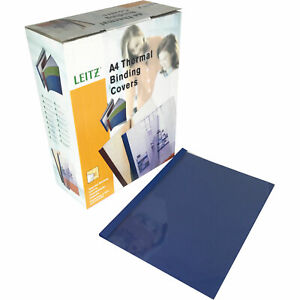 Leitz A4 Blue Leather Thermal Binding Covers 1.5mm (100)