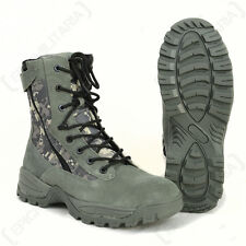 Digital Camo Tactical Army Boots - 2 Zips Winter Military Shoes All Sizes New