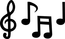 Musical Notes Sticker/Decal - 16cm x 10cm for Window, laptop,instrument case