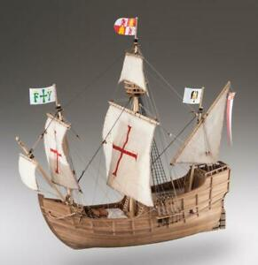 Santa Maria Caravelle Christopher Colombus Ship IN Wood 1:72 Wooden Ship Model