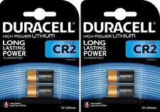 4 x DURACELL® CR2 3V High Power Lithium Battery DLCR2/ELCR2 Expiry 2026
