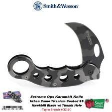 Smith & Wesson Extreme Ops, Urban Camo Titanium Coated Karambit Knife #CK32C