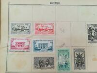 lot N°285 - à décoller 6 timbres Martinique années 20