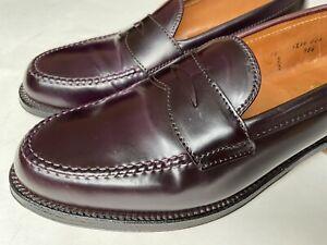 Alden LHS 986 Penny Loafer Color 8 Horween Shell Cordovan Size 10 D