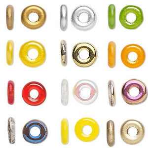 20 Little Czech Glass 4mm x 1mm Small Round Rondelle Donut Ring Loose Beads