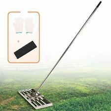 IWONGO Lawn Leveling Tool 36'' x 10'' - Leveling Lawn Rake with 72'' Long Stainl