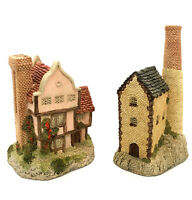 David Winter Cottages Lot Of 2 Suffolk House & Cornish Tin Mine COA's And Boxes