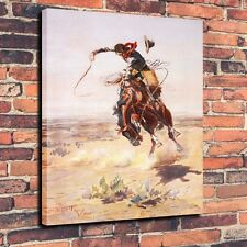 Art Quality Canvas Print, Oil Painting A Bad Hoss (1904) Home Deor 16x24