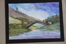 New Country Scene Barnard Castle watercolour 21cm x 15cm unmounted unframe