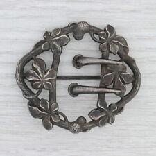 Vintage Floral Statement Brooch Fishol Nessler Hat Scarf Pin Fine Silver