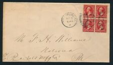US. 1901. 2 c. BLOCK OF 4 on cover.