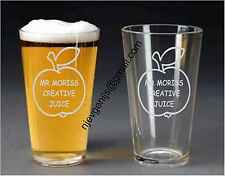 Personalised Engraved Apple For Teacher Pint Glass Birthday Party by jevge 15