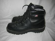 Danner Blackhawk II Black Leather Heavy Duty Boots Men's 8 Goretex Vibram USA