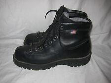 Danner Blackhawk II Black Leather Heavy Duty Boots Men's 8 Goretex Vibram USA