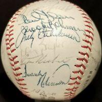 1970 WORLD SERIES CHAMPIONS Baltimore Orioles Team Signed Ball Auto vtg HOF