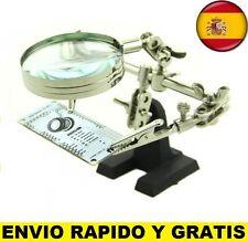 LUPA DE PRECISION CON PINZAS Y SOPORTE TERCERA MANO ELECTRONICA MOVILES