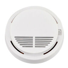 White Home Security Standalone Smoke Detector Fire Alarm Photoelectric Sensor