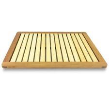 SereneLife Bamboo Bath Mat   Heavy Duty Natural Wood Bathroom Or Shower Rug