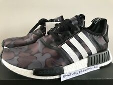 ADIDAS NMD RUNNER R1 BAPE Nero Grigio Mimetico US 9 UK 8.5 42.5 43 un BATHING APE 2016