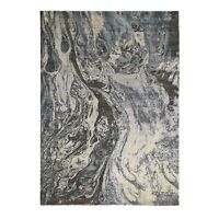 "9'x12'1"" Blue Geological Design Wool & Pure Silk HandKnotted Oriental Rug R48547"