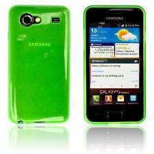 Samsung Galaxy S Advance  Hülle Tasche Case Schutz Hülle Back Cover Grün/Glow