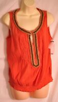 women's St. John's Bay summer top cora & seed beads size petite large brand new!