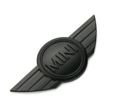 1x Metal 3D Car Badge Emblem Logo Sticker For Mini Cooper Front Rear Hood Black