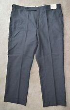 NWT Paul Stuart Charcoal Gray Flat Front Wool Dress Pants 40W Canada