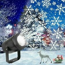 LED Christmas Snowflake Laser Projector Light Snow Outdoor Garden Landscape Lamp