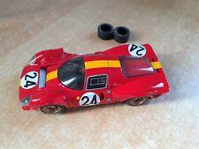 RARE   P4 FERRARI - RACER résine mécanique slot it - LE MANS 1967