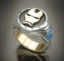Fashion Jewelry for men women size 10 Stainless Steel Ring Gold Iron Man Theme