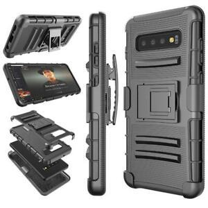Black Shockproof Holster Belt Clip Case For Samsung Galaxy/Iphone/LG/HTC/Alcatel