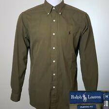 Polo Ralph Lauren Medium Classic Fit Pony Shirt Dark Green