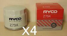Z79A RYCO Oil Filter X4 BULK for Toyota 86 ZN6 Subaru BRZ ZC6 Scion FR-S FA20