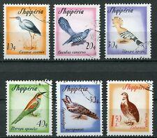 Albanien 973 - 978 gestempelt, Zugvögel