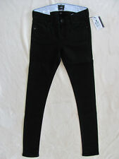 Burton Lorimer Slim Jeggings Stretch Tapered Jeans- True Black-Size 24 -NWT $65
