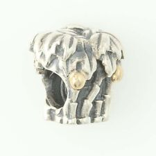 NEW Authentic Pandora Palm Tree & Coconut Charm Sterling 14k Gold Retired 790521