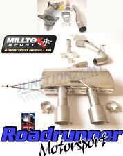 "Milltek Golf MK6 R Exhaust 3"" Race Turbo Back & Cat Resonated Non Valve Titanium"