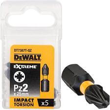 Dewalt dt7387t-qz Pack De 5 PZ2 25mm Impacto Torsion pedacito de destornillador