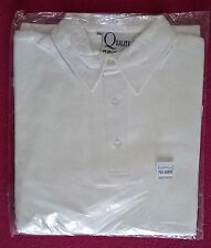 White Cricket Polo Shirt X-Small to XXX-Large 3 Quarter or Full Sleeve - NEW