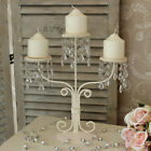 CANDLE HOLDER french SHABBY cream CHIC candelabra wedding table centre