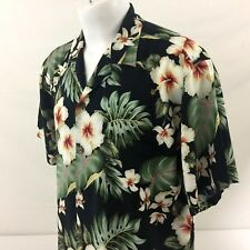 Bishop St Apparel Hawaiian Aloha Shirt XL Floral Hibiscus Vintage 100% Rayon