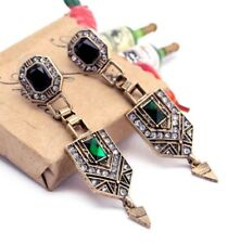 Vintage Style Art Deco Rhinestone Crystal Jewellery Statement Earrings