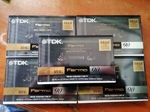 TDK MA-XG 90 Super Metal Box of 5, Brand New in Box