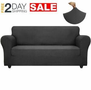 Funda Protectora Para Sofa Impermeable Cobertores Cover De Sala 3 Plazas Gris US