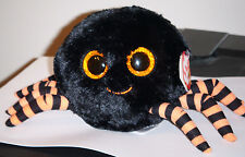 """Ty Beanie Boos ~ CRAWLY the 6"""" Halloween Spider ~ NEW with MINT TAGS"""