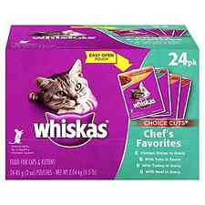 WHISKAS CHOICE CUTS Wet Cat Food Pouches .