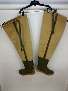 Vintage Hodgmans Wade Well Insulated Waders Fishing Hunting Mens Size 10