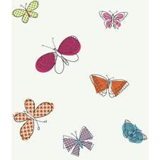 Girls Multiple Colors of Butterfly / Butterflies Wallpaper Pw4016