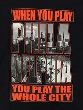 "PHILADELPHIA FLYERS Black ""CITY PRIDE"" T-SHIRT - Men's XL"